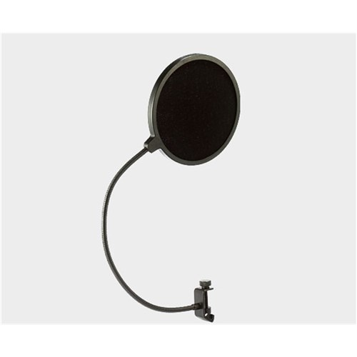Pop filter flexible gooseneck with clamp for mic stand