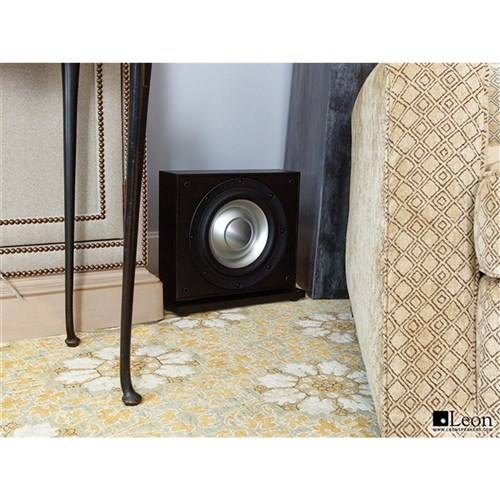 Aaros ACS10-UT Ultra-Thin Subwoofer, Black/Black finish Leon Speakers