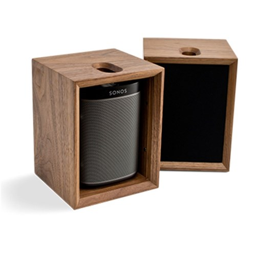 TC1S ToneCase Walnut Cabinet To House SONOS PLAY:1 Leon Speakers
