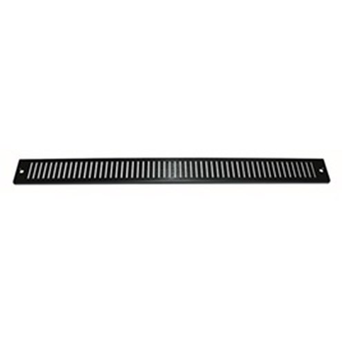 Trim Panels for Slim-5 Top and Bottom, Black Anodized Middle Atlantic