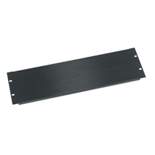 3RU Flanged Blanking Panel Aluminum Anodized Black Middle Atlantic