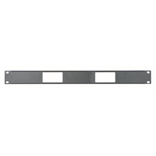 1RU Panel for 2 Decora devices Middle Atlantic