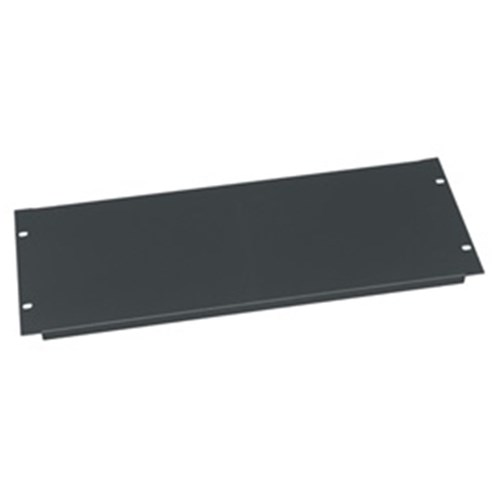 4RU Economical steel panel Flanged, Black Middle Atlantic
