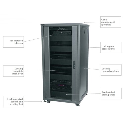 IRCS 42RU, 24in Deep Pre-configured rack system Middle Atlantic