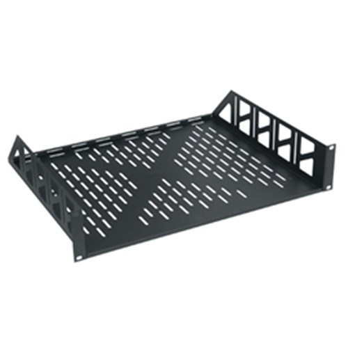 2RU Vented Rackshelf, Black Middle Atlantic