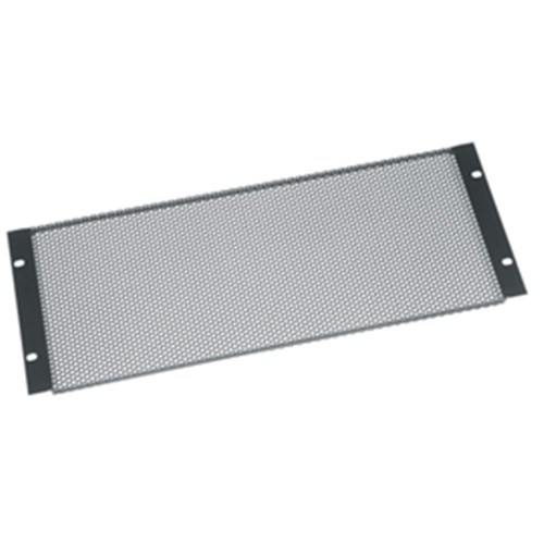 4RU Perforated Vent Panel Flanged, Flat Black, 64% open Middle Atlantic