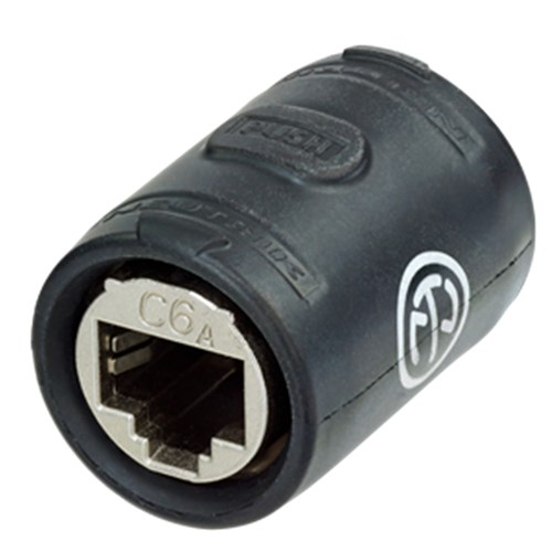 CAT6A feedthrough coupler for cable extensions