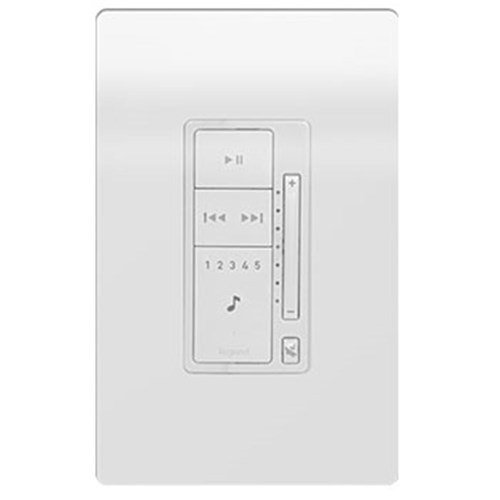 P10 Keypad White Includes Decora wall plate Player Portfolio Nuvo