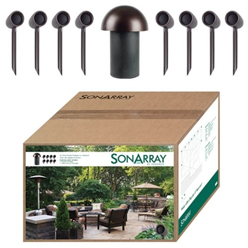 SonArray SR1 System 8x 3.5in Satellite speakers & 1x 8in Subwoofer