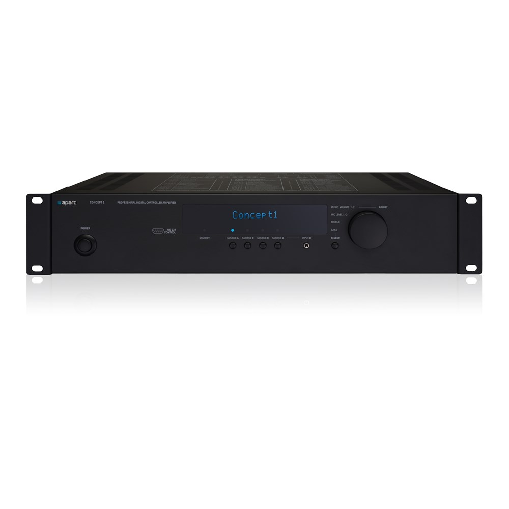 Commercial Use Stereo Amp 2x60w 100 Apart Audio Amber Tech Power Amplifiers